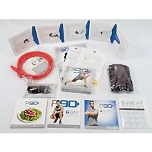 Beachbody P90 Training System DVD's With Resistance Band And Meal Guide