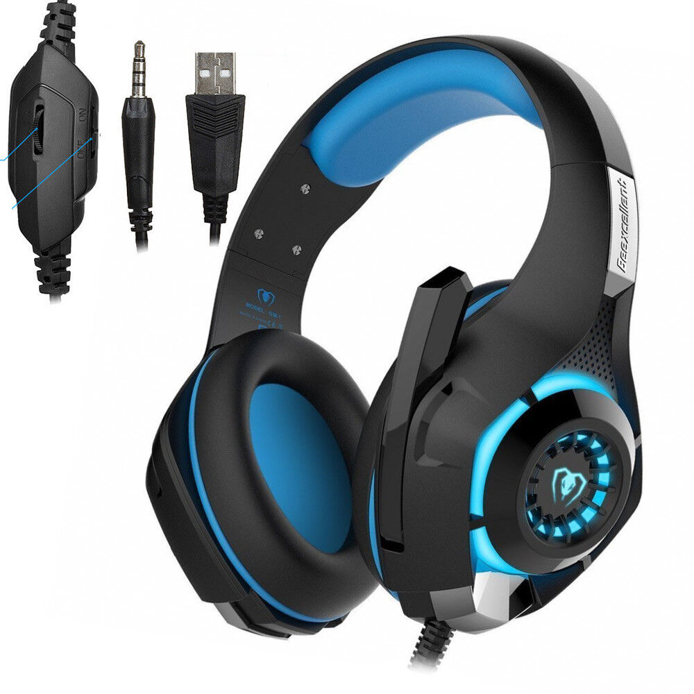 Beexcellent GM-1 Stereo Bass Surround Gaming Headset for PS4 New Xbox One PC Mic