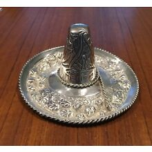 Large Sterling Silver Mexican Sombrero Hat Sculpture 2.66 Troy Ounces