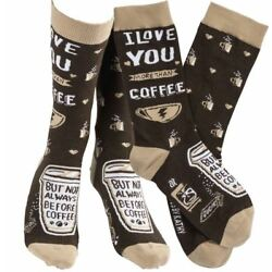 I Love You More Than Coffee - Primitives by Kathy Lol Socks