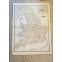 19th Century C1860 England Map 33