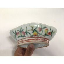 A Chinese Famille Rose Porcelain High Foot Dish