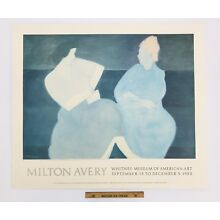 HUGE Vintage Whitney Museum MILTON AVERY Poster Print Lithograph