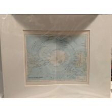 Vintage Book Plate Artwork - 1890 South Polar Chart Map
