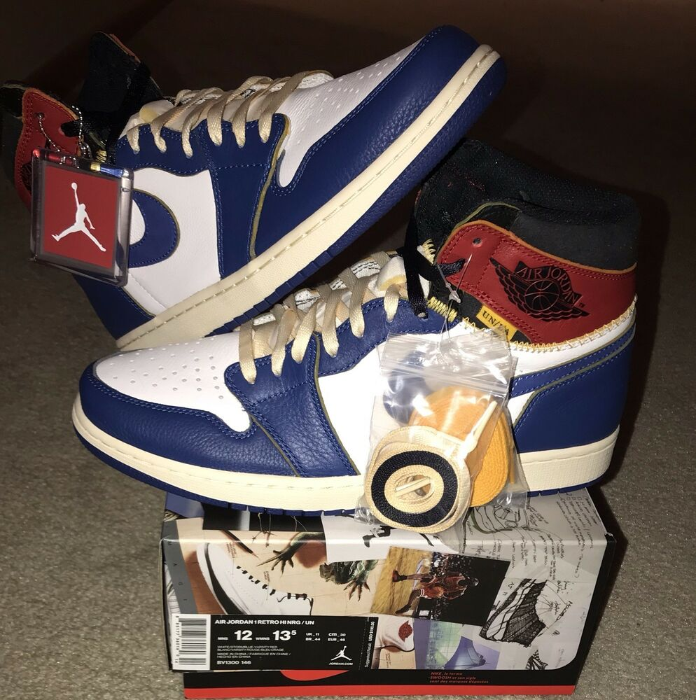 best service 24580 5ca3a Details about Union LA x Jordan Air Jordan 1 Retro White Storm Blue Sz 12  SEND OFFERS Sell 2dy