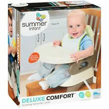 Toddler Mealtime Booster with Removable Tray Folding Secure Compact HIgh Seat
