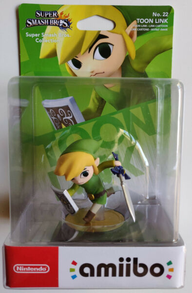 AMIIBO TOON LINK LEGEND OF ZELDA SUPER SMASH Nº 22