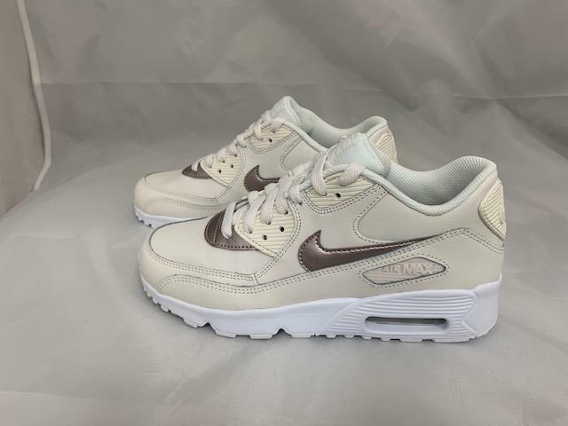 81a06e34ef Details about NEW JUNIORS NIKE AR MAX 90 LTR 833376-014