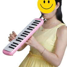 Keyboard Harmonica Melodion 32 key with Soft Case for Beginner Pink