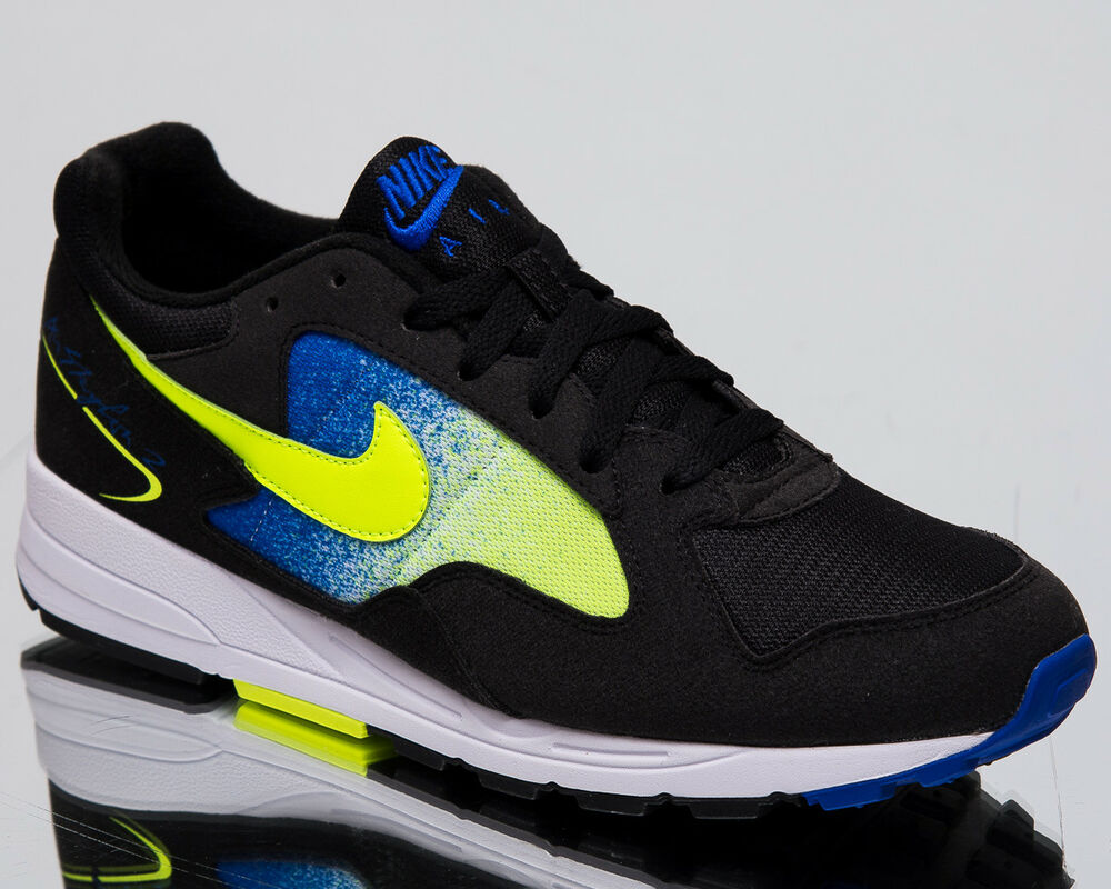 e3f0e9583dfa Details about Nike Air Skylon II Men s New Black Volt Blue White Casual  Sneakers AO1551-002
