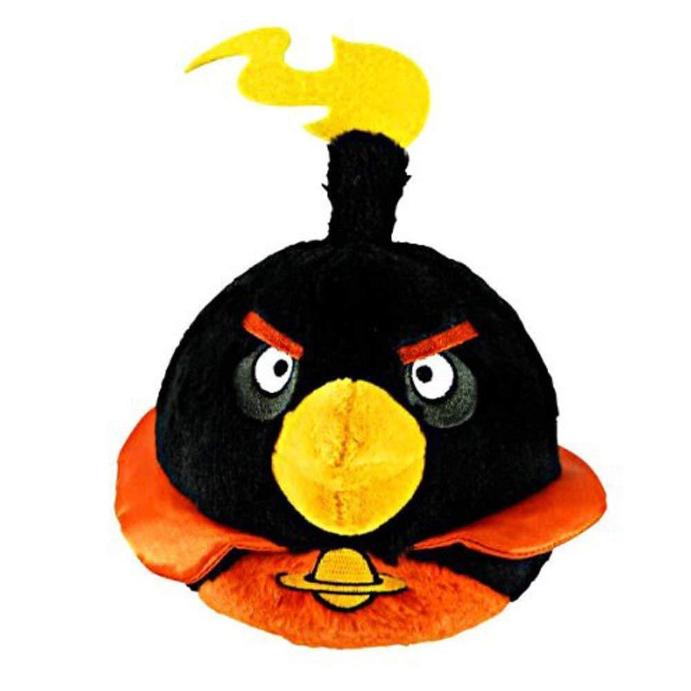 Details about Commonwealth Toy 5-Inch Angry Birds Black Bomb Space Plush  with Sound New a4f5d4623236