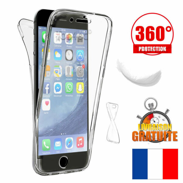 COQUE HOUSSE ETUI TOTAL 360° POUR IPHONE  6/ 7 / 8  PROTECTION TPU GEL SILICONE