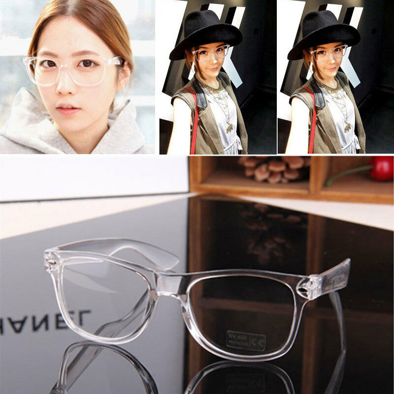 Details about Fashion Eyeglass Frame Vintage Transparent Glasses Retro UV  400 Plain Lens Optic 994fd551e0