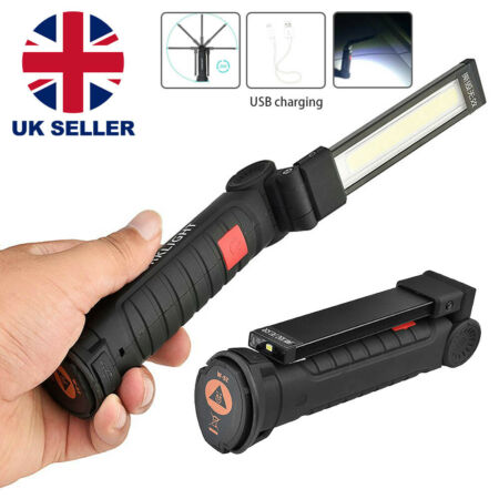 img-LED COB Rechargeable Magnetic Torch Flexible Inspection Lamp Cordless Work Light