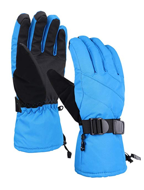 ec3dd38c5b133 Andorra Men's Thinsulate Touchscreen Abstract Electric Blue Large Ski Gloves  | eBay