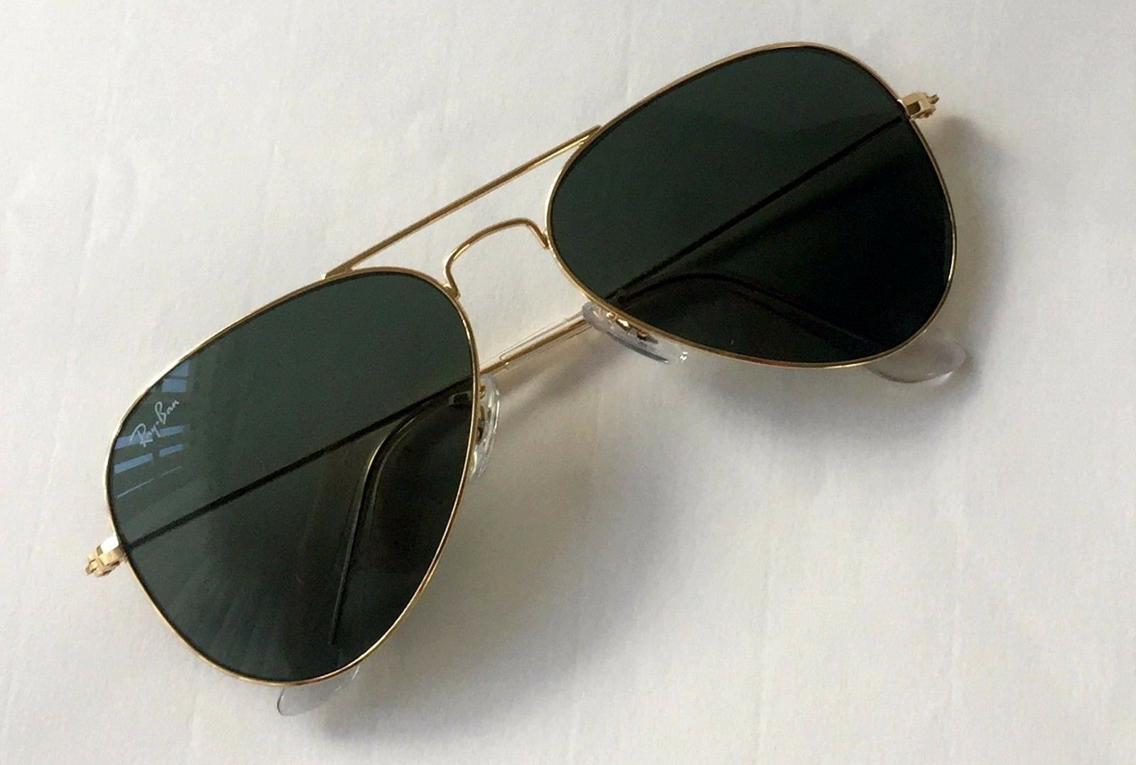 736bc730897 ... Large Metal UPC 805289628460 product image for Ray Ban Aviator Rb3026  L2846 Gold Frame G15 Green Lens 62mm ...
