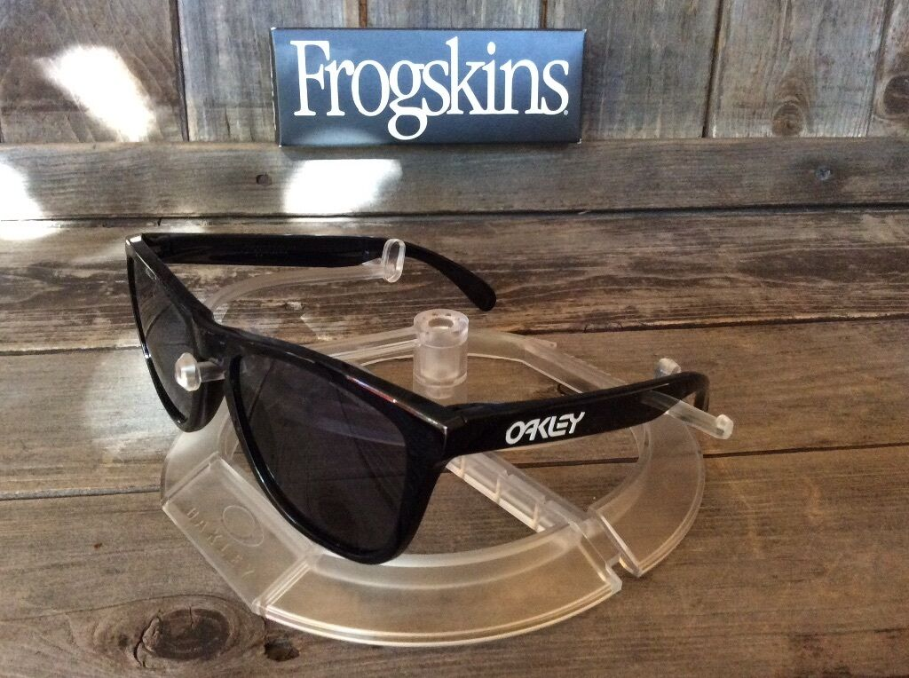5cca59485b07f UPC 700285554686 product image for Oakley Frogskins Sunglasses Oo9013 24-306  Polished Black Frame Grey ...