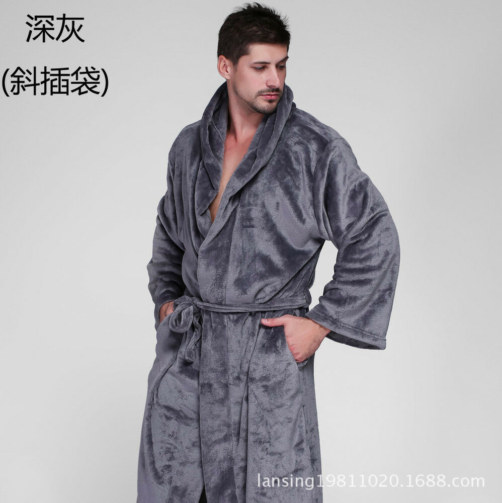 42b183736e Details about New Mens Ladies Hooded Bathrobe Long Towelling Bath Robe  Dressing Gown Coat