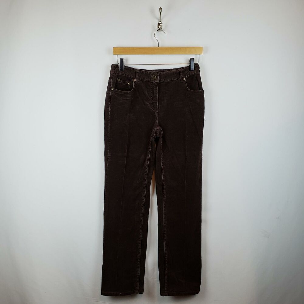 5b8ddea690b Details about Charter Club Corduroy Straight leg Jeans Womens Sz 2P Stretch  Cotton Brown