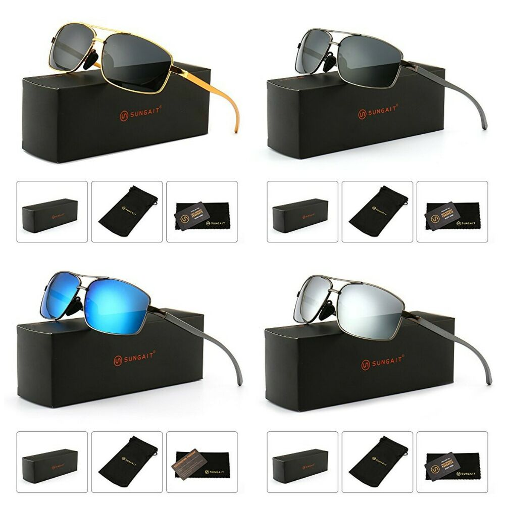 f2a975f6d23b Details about Sungait Fashion Lightweight Rectangular Polarized Sunglasses  100% Uv Protection
