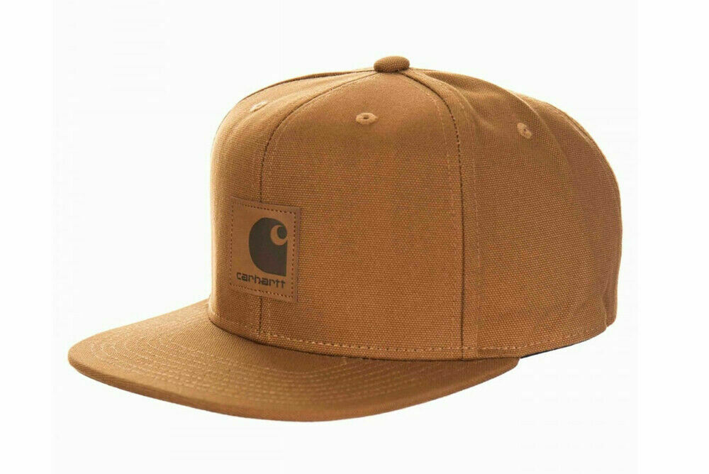 de249b5df6d Details about Carhartt Wip Logo Cap Snapback Watch Hat Hamilton Streetwear  Brown Backley