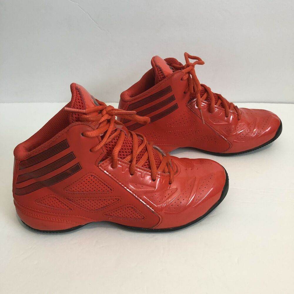 d21adde43ded Details about ADIDAS Boys Youth Size 3 Red   Black Mids Athletic BASKETBALL  SHOES