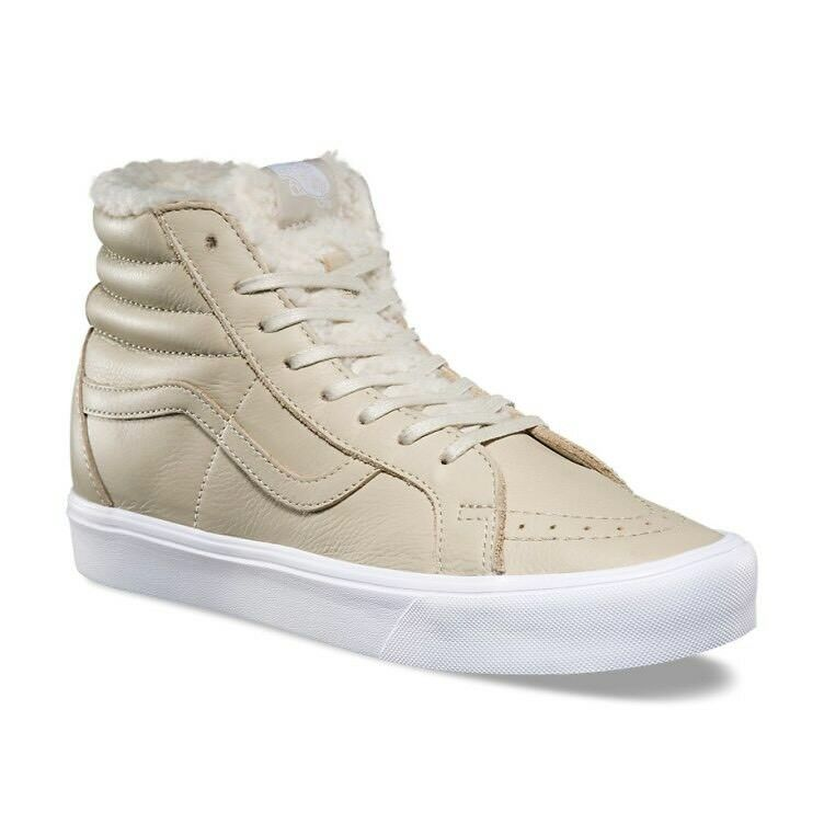 low priced fab6d 642b8 Details about Vans Sk8 Hi Reissue Lite Sherpa Cement True White Mens Size 9  New In Box Skate