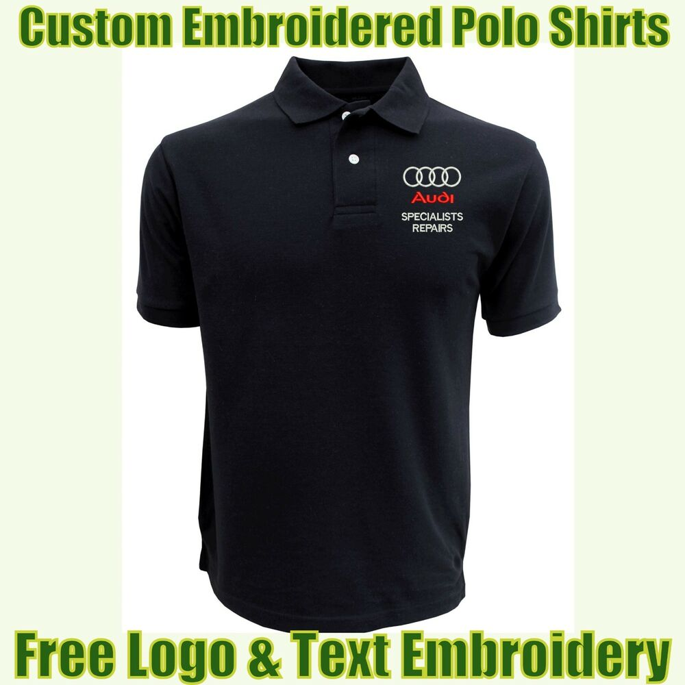 e821d534 Details about NEW Custom Embroidered Polo Shirt With Logo Garage &  Technicians Names Work Wear
