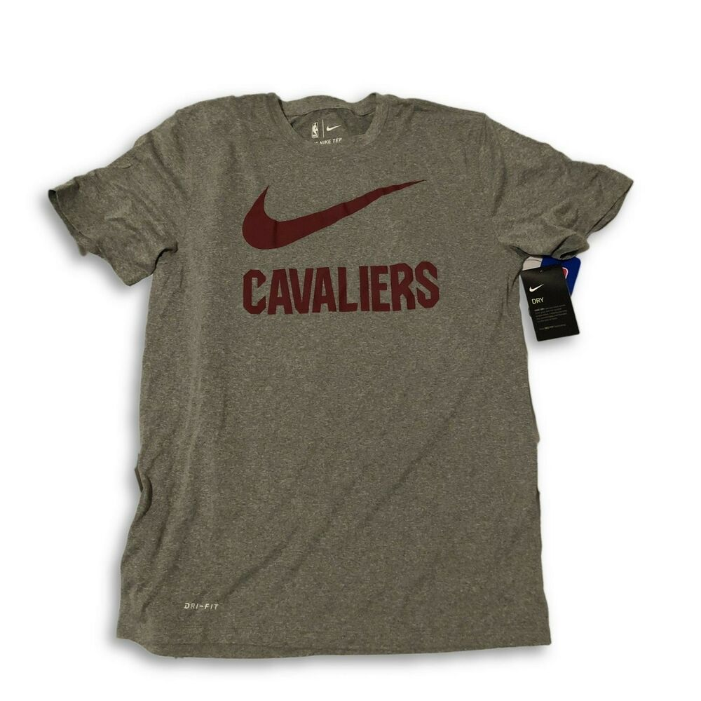 af386faa1d62 Details about New NWT Cleveland Cavaliers Nike Dri-Fit Swoosh Size Medium T- Shirt