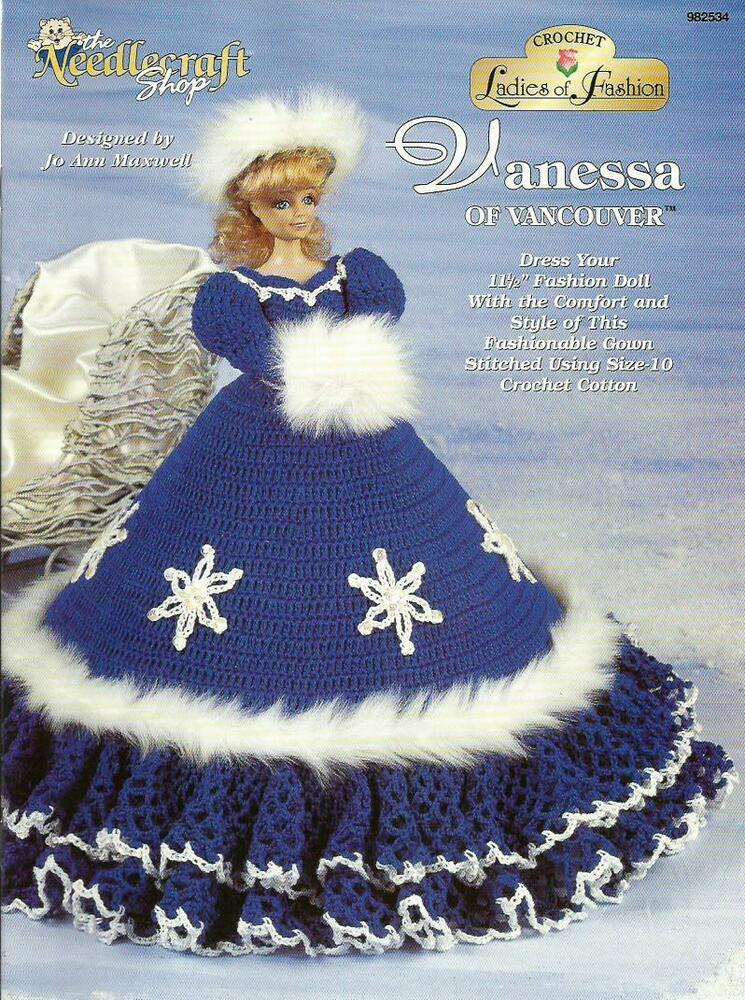 Vanessa Of Vancouver Ladies Of Fashion Crochet Gown Pattern For