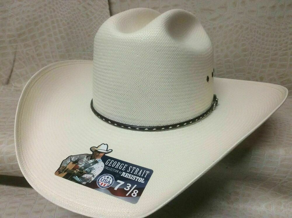 09c0f1ac9eb74 Details about Resistol Alpha 10X George Strait Collection Rodeo Western  Cowboy Straw Hat