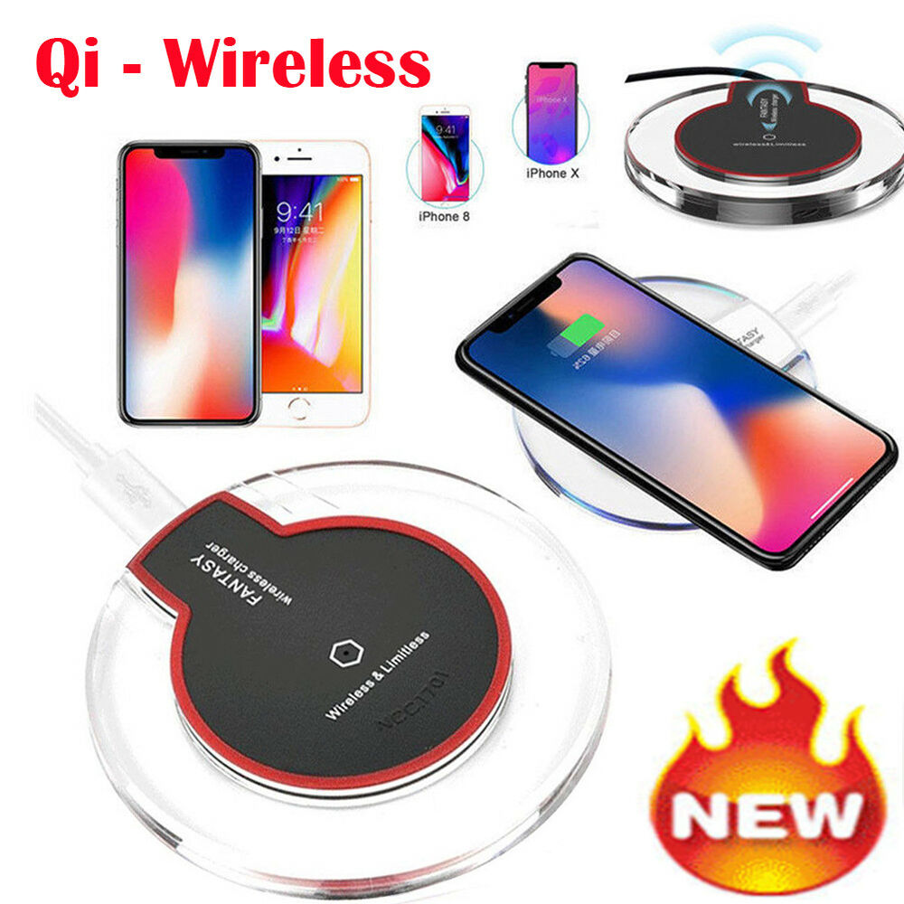 rapide chargeur sans fil qi wireless induction charge pour samsung s8 iphone x 8 ebay