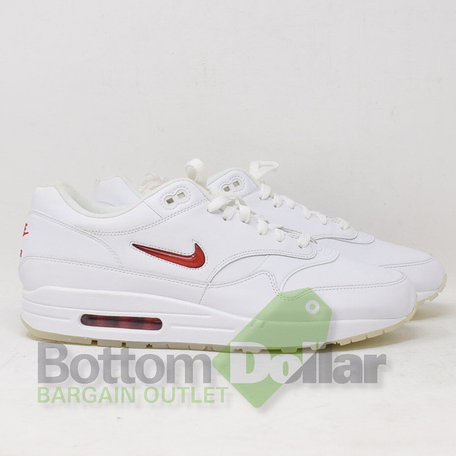 separation shoes 017ed 5cc8e Details about Nike Air Max 1 Premium SC Jewel 918354-104 White  University  Red Shoes