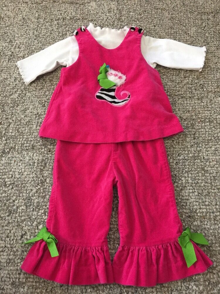 Details about Peaches 'n Cream 12 Month Christmas Outfit EUC - Peaches 'n Cream 12 Month Christmas Outfit EUC EBay