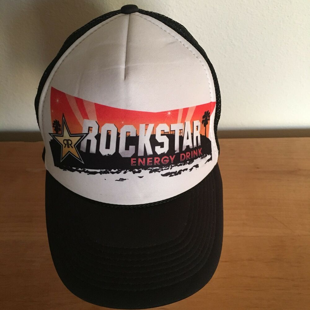 Details about BASEBALL CAP MESH TRUCKERS HAT COLLECTIBLES ROCKSTAR ENERGY  DRINK BLACK f99b08c0422