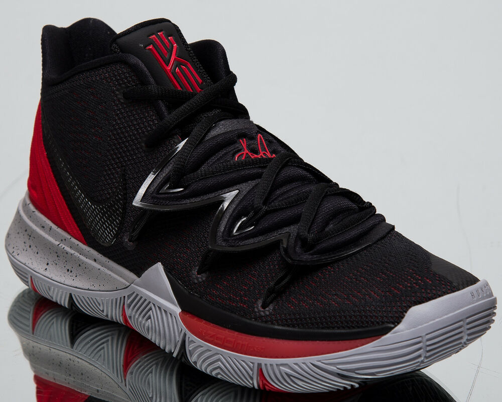 separation shoes 29df4 e6566 Basketball Nike Kyrie Black 5 Bred New University Shoes Men s Red qX4aXOw
