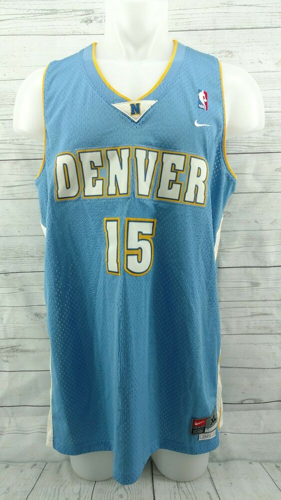 9845030ef93 Details about Mens NIKE Denver NUGGETS Carmelo Anthony  15 SEWN NBA  Basketball Jersey XL +2