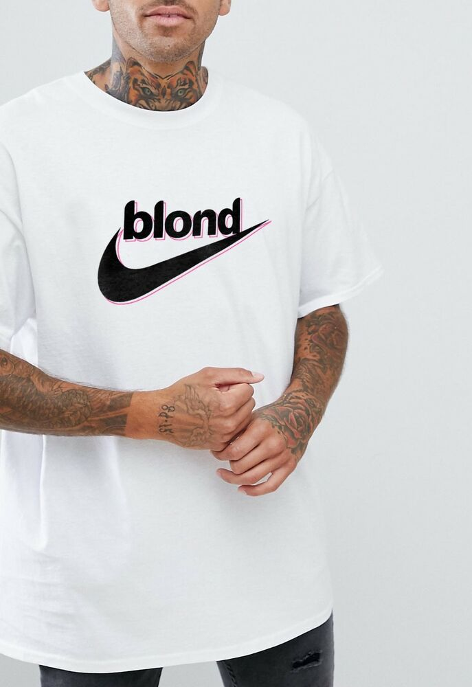 d29812eb1 Details about Blond Swooshs T-shirt Tick Sports Ocean Hipster Tee Adi Off  Retro Frank Top