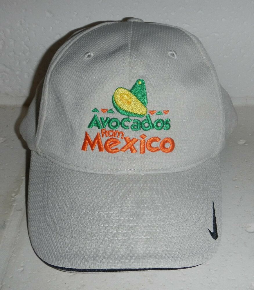 f9c855db1c7 Details about NWOT Avacados From Mexico Logo Beige Baseball Hat Cap Nike  FlexFit Size M L