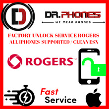 FACTORY ROGERS UNLOCK SERVICE FOR ROGERS IPHONE XS XR X 8 8+ 7+ 7 6+ 6 6S UNLOCK