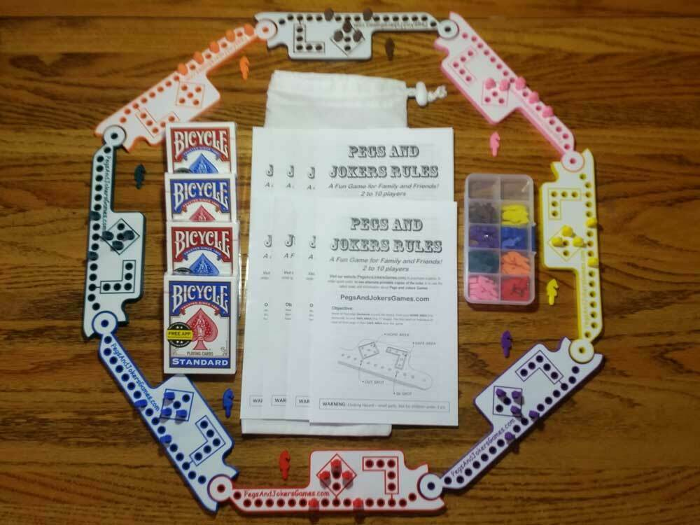 8 Players Pegs And Jokers Or Marbles New American Made In
