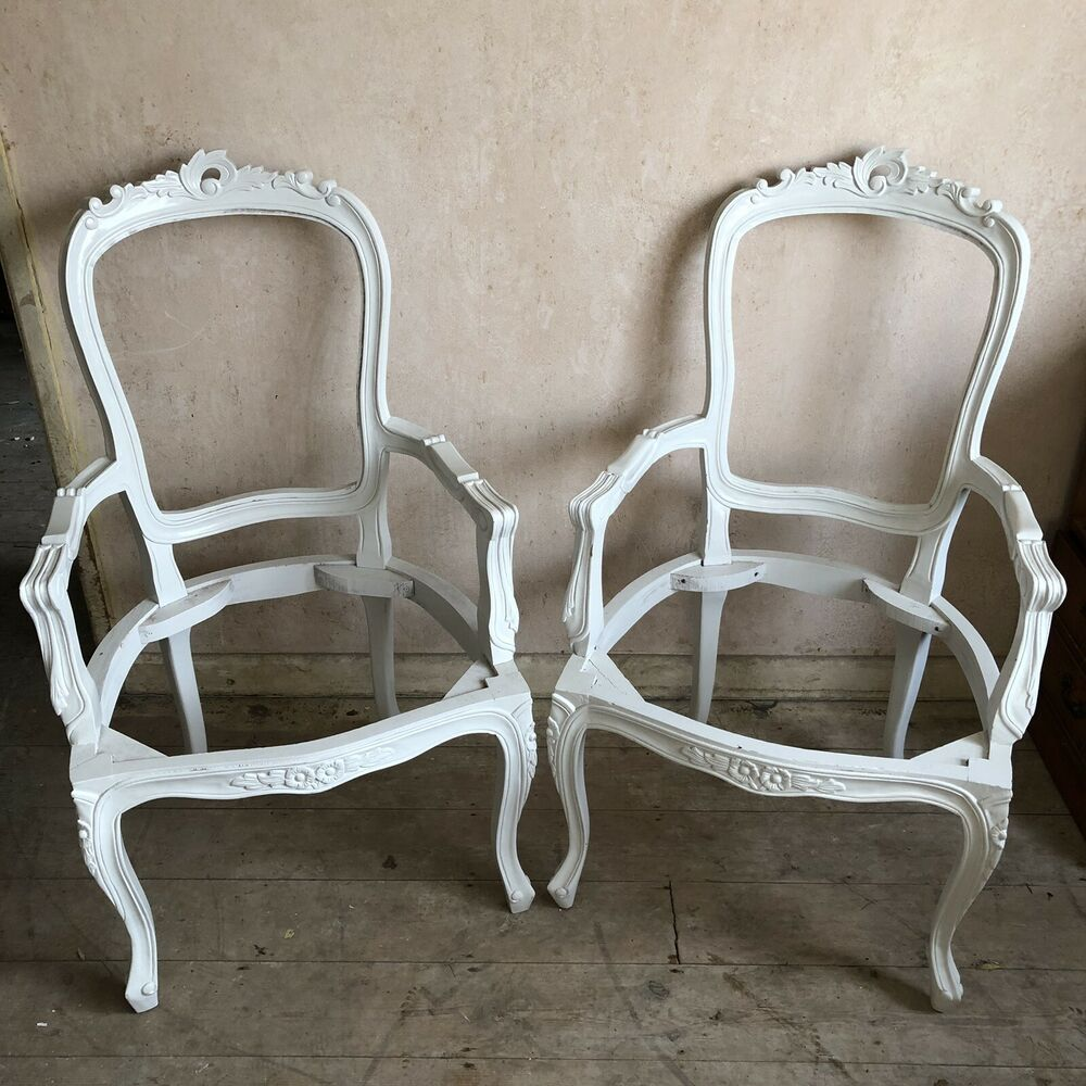 Details about French Style Louis Chair Frames - Ready For Upholstering - 2 Available & French Style Louis Chair Frames - Ready For Upholstering - 2 ...