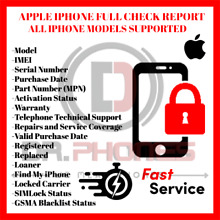 IPHONE INFO CHECK IMEI / SIMLOCK CARRIER / FIND MY IPHONE / BLACKLIST STATUS GSX