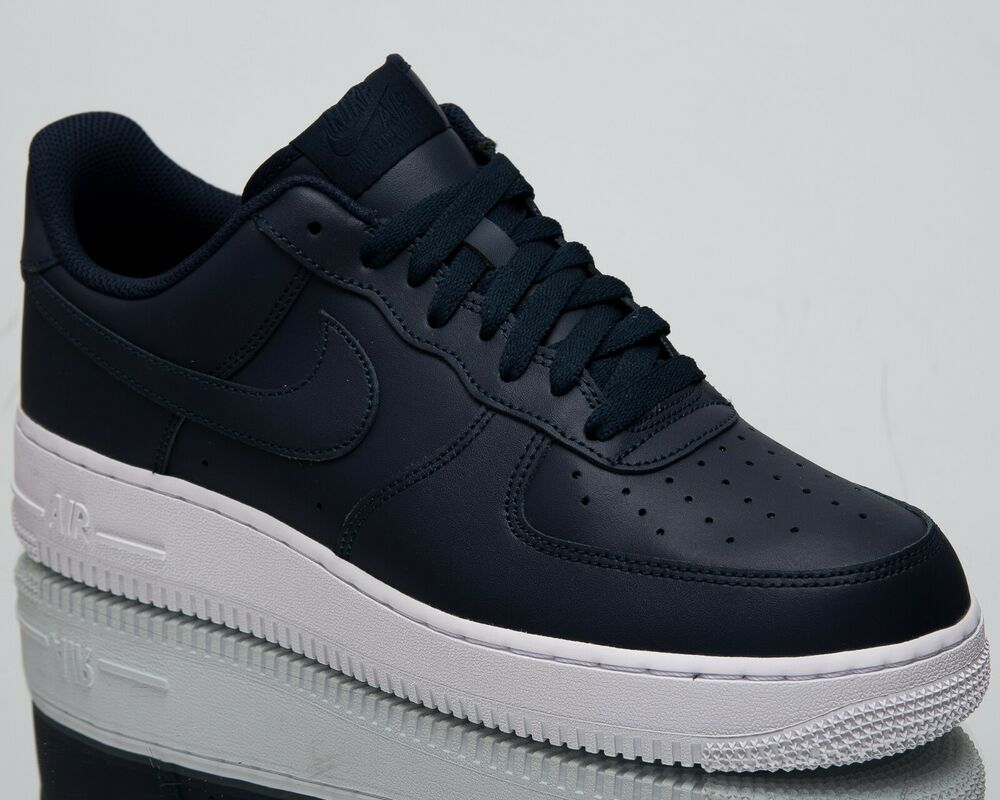 separation shoes bb012 d4cc0 Details about Nike Air Force 1  07 New Men s Lifestyle Shoes Obsidian White  Low Top AA4083-400