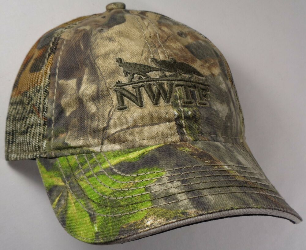 9b3864071b51f Hat Cap Licensed NWTF National Wild Turkey Mossy Oak Camo Mesh Hunting OC
