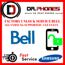 FACTORY BELL UNLOCK SERVICE FOR BELL CANADA SAMSUNG ALL MODELS CLEAN UNLOCK
