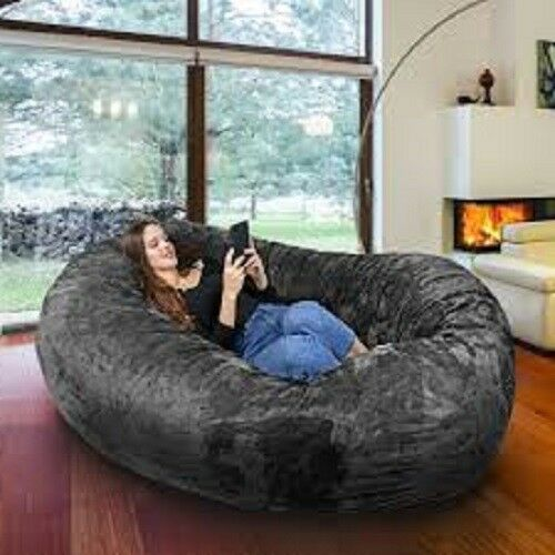 Details About Large Bean Bag Chair 8 Ft Sofa Giant Dorm Furniture Xl Lounge College Home