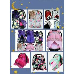 baby car seat canopy infant car seat canopy cover blanket fit all seat 3D pink
