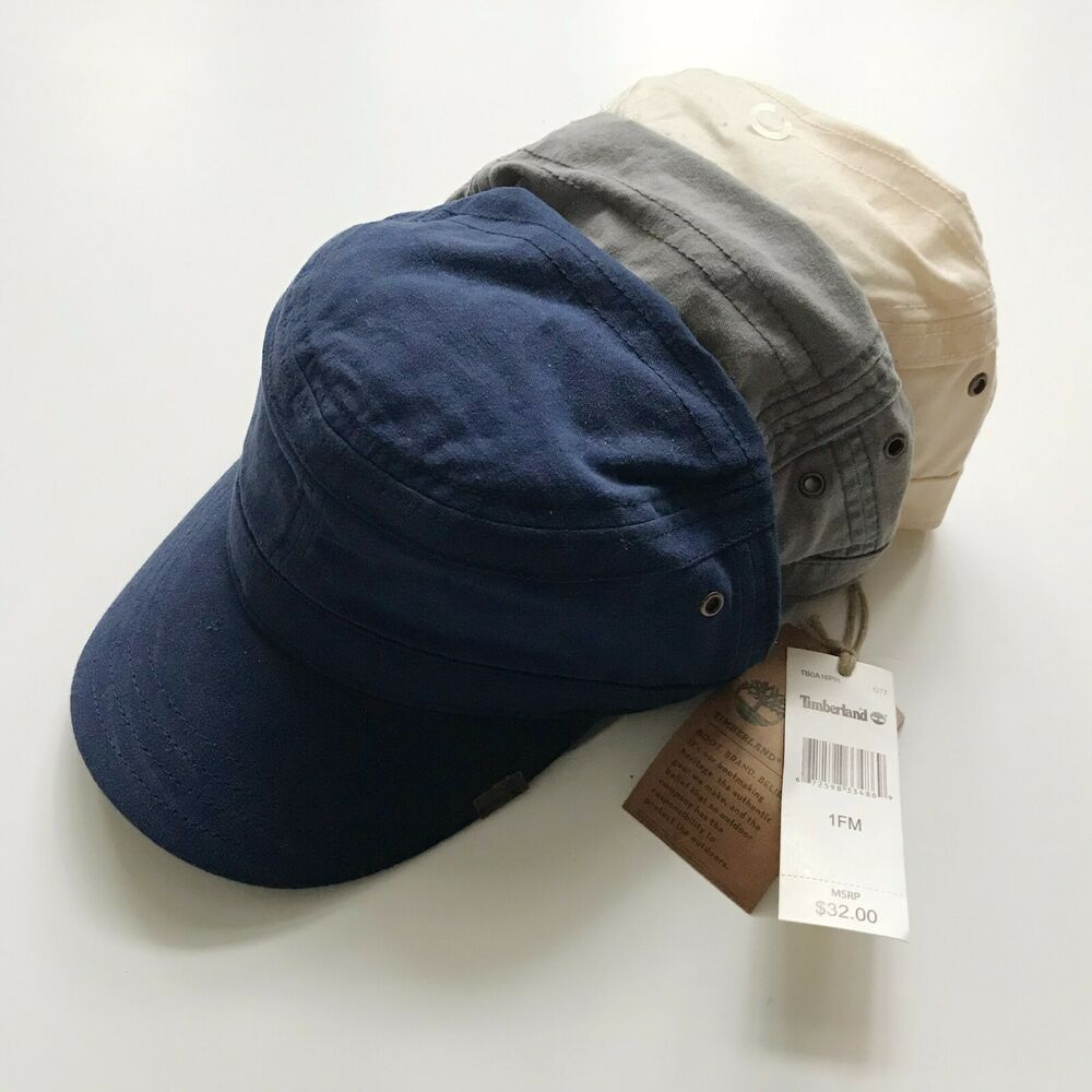 Details about NWT Timberland Men s Prince Cove Waxed Field Canvas Military  Cap A16PH dabaa91ce300