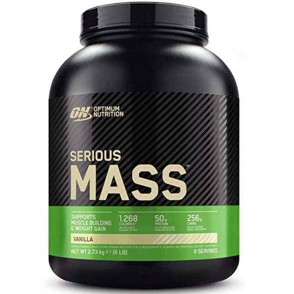 ON Optimum Nutrition Serious Mass 2730 g Gainer Proteine Whey Creatina + OMAGGIO